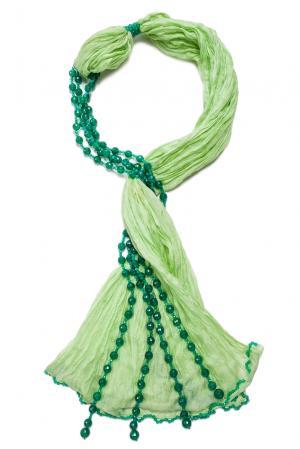 Колье с шелковым шарфом SF-122611 Rajola. Цвет: зеленый