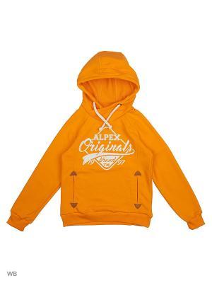 Худи ALPEX. Цвет: оранжевый