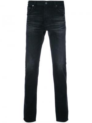 Джинсы кроя слим Tellis Ag Jeans. Цвет: чёрный