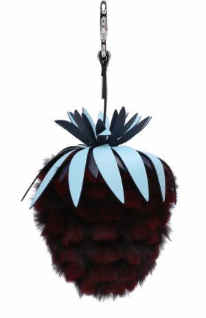 Подвеска Fruits из меха кролика Fendi. Цвет: бордовый