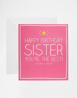 Happy Jackson Открытка сестре на День рождения. Цвет: мульти