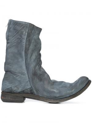 Ботинки с потертой отделкой A Diciannoveventitre. Цвет: серый