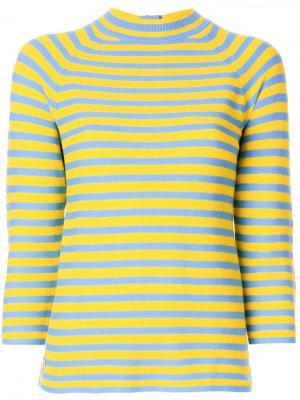 Полосатый трикотажный топ Marc Jacobs. Цвет: жёлтый и оранжевый