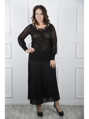 Блузка Maria Grazia Severi. Цвет: черный