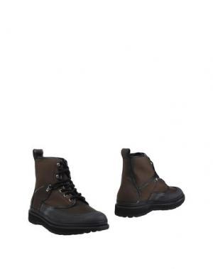 Полусапоги и высокие ботинки UMIT BENAN. Цвет: темно-коричневый