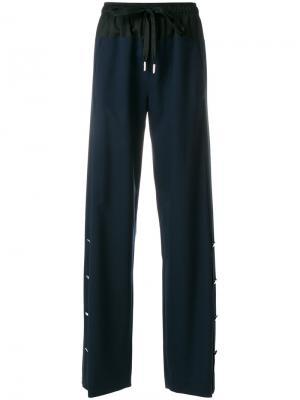 Широкие брюки со шнурком Cédric Charlier. Цвет: синий