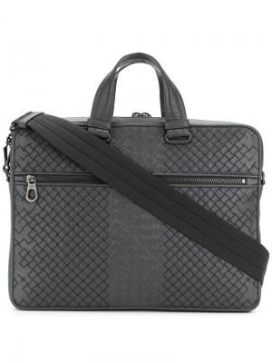 Классическая сумка для ноутбука Bottega Veneta. Цвет: серый