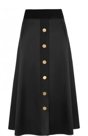 Однотонная юбка-миди с карманами Dorothee Schumacher. Цвет: черный