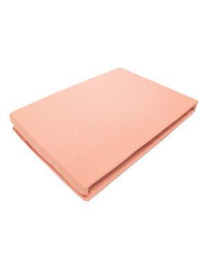 Простыня трикотажные на резинке Элеонора, 200*200см + 30см Тет-а-Тет. Цвет: розовый