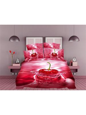 Постельное белье Cherry 2,0 сп.Euro Buenas Noches. Цвет: розовый