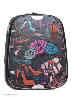 Рюкзак STERNBAUER. Цвет: темно-серый, розовый
