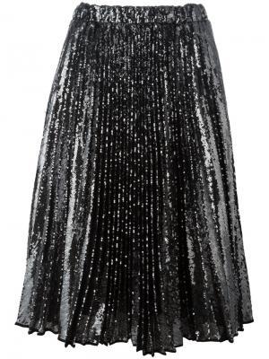 Плиссированная юбка Nº21. Цвет: металлический