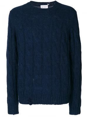 Джемпер вязки косичкой Dondup. Цвет: синий