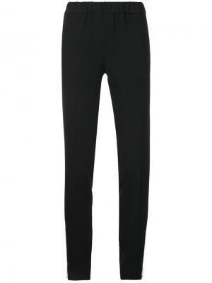 Прямые брюки 08Sircus. Цвет: чёрный