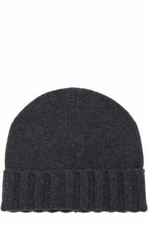 Кашемировая шапка бини Ermenegildo Zegna. Цвет: темно-серый