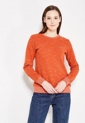 Свитшот Lacoste. Цвет: оранжевый