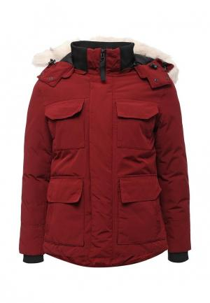 Куртка утепленная Just Key. Цвет: бордовый