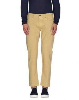 Джинсовые брюки PENCE. Цвет: песочный