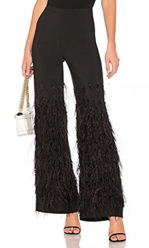 Широкие брюки с перьями 625 LPA. Цвет: черный