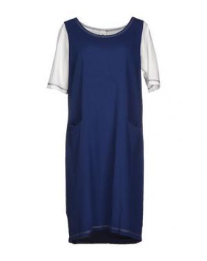 Короткое платье CORINNA CAON. Цвет: синий