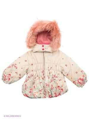 Куртка Baby Club. Цвет: молочный, розовый, бежевый