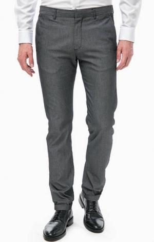 Зауженные брюки с отворотами Strellson. Цвет: серый