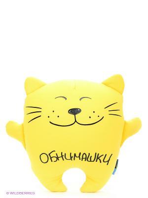 Кот Обнимашка MAXITOYS. Цвет: желтый