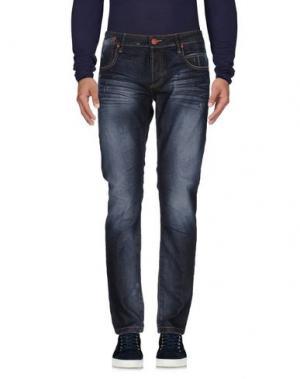 Джинсовые брюки 1° GENITO. Цвет: синий