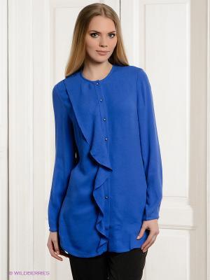 Блузка Allezye. Цвет: синий