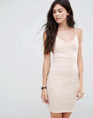 Daisy Street Платье-комбинация. Цвет: розовый