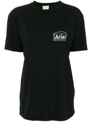 Футболка с принтом логотипа Aries. Цвет: чёрный
