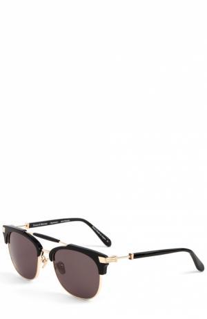 Солнцезащитные очки Frency&Mercury. Цвет: золотой