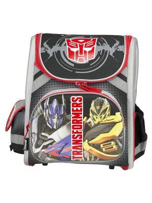 Ранец-трансформер профилактический, с EVA-спинкой Transformers. Цвет: серый