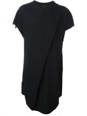 Асимметричная футболка Folded Lost & Found Ria Dunn. Цвет: чёрный