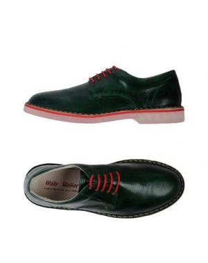 Обувь на шнурках WALLY WALKER. Цвет: темно-зеленый