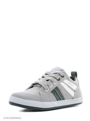 Кроссовки GEOX. Цвет: серый, зеленый