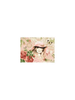 Гобеленовая наволочка ОТКРЫТКА ВЕСНА 50х70 см Рапира. Цвет: бежевый, розовый