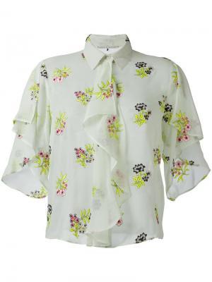 Юбка с цветочной вышивкой Marco De Vincenzo. Цвет: зелёный