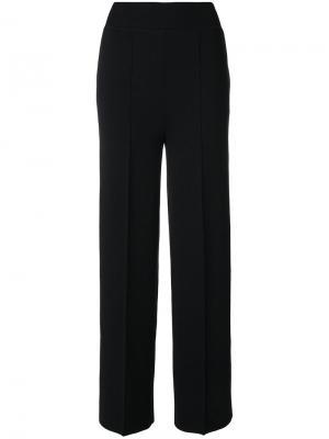 Вязаные прямые брюки Jil Sander. Цвет: синий