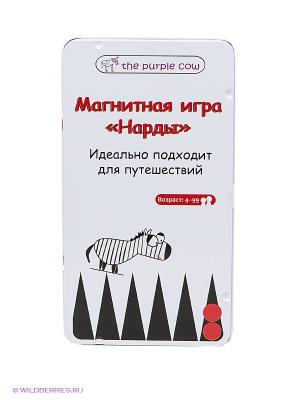 Магнитная настольная игра Нарды THE PURPLE COW. Цвет: белый, красный