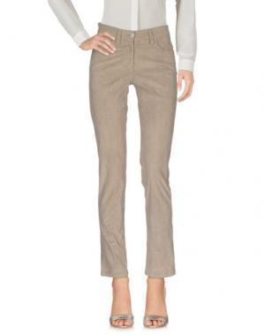 Повседневные брюки GUNEX. Цвет: светло-серый