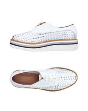 Обувь на шнурках ANGELA GEORGE. Цвет: серебристый