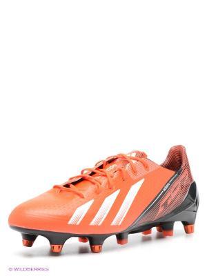 Бутсы adizero F50 Adidas. Цвет: красный, черный