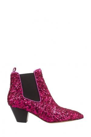 Ботильоны в пайетках Marc Jacobs. Цвет: розовый