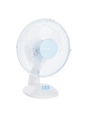 Вентилятор настольный FIRST 5550-BU, мощность  25 Вт. Цвет: голубой, белый