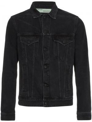 Джинсовая куртка с отделкой Off-White. Цвет: чёрный