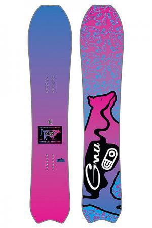 Сноуборд  Air Blaster Pow C3 GNU. Цвет: розовый,голубой