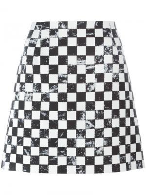 Юбка с принтом в клетку Marc Jacobs. Цвет: чёрный