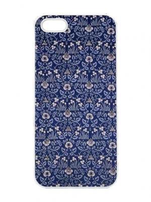 Чехол для iPhone 5/5s Синие лютики Chocopony. Цвет: темно-синий, синий, серый, голубой