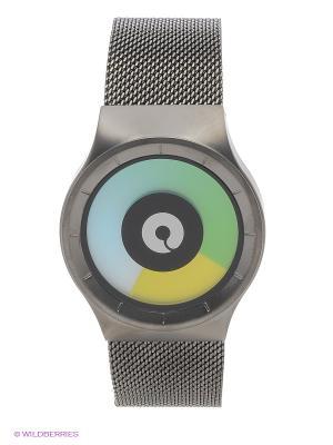 Наручные часы Celeste Gunmetal - Colored Ziiiro. Цвет: черный